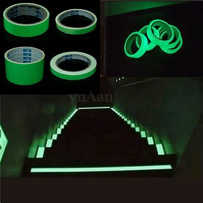4 Size Luminous Photoluminescent Tape Glow In The Dark Egress Stage Safety Decor