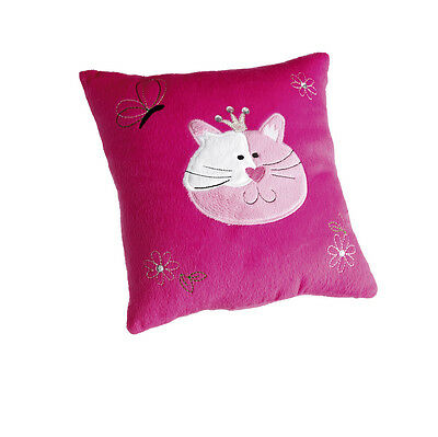 5 x Job Lot Girls Pink Fur Cat Cushions Party Bag Gifts CU-7558 By Katz