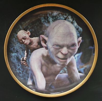 Wedgwood Danbury Mint Lord of the Rings Gollum Collectors Plate