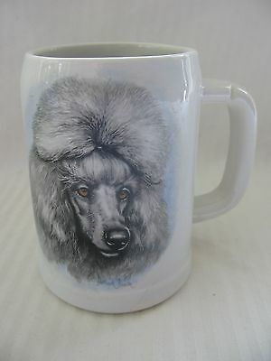 Artist Signed McCoy Pottery Mug w/ Poodle Dog Numbered 6395