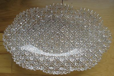 "Beautiful American Brilliant Pattern Harvard Cut Glass 11 3/4"" Oval Bowl"
