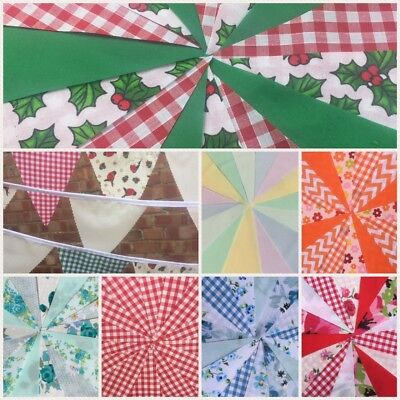 Fabric Bunting 10ft / 20ft Birthday, Party, Wedding, Garland, Flags, Decoration