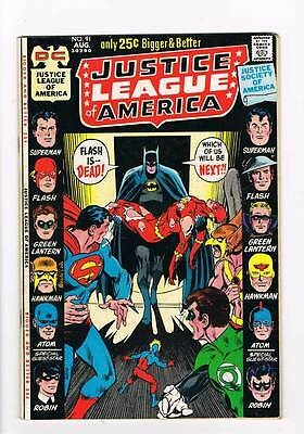 Justice League of America # 91  52 page issue  grade 7.5 scarce book !!