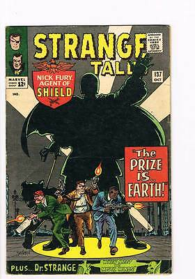 Strange Tales # 137 The Prize is...Earth ! Nick Fury ! grade 4.5  scarce book !