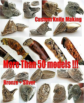 Finger Guard & Knife Pommel Bolster German Silver / Bronze Custom Knives Making