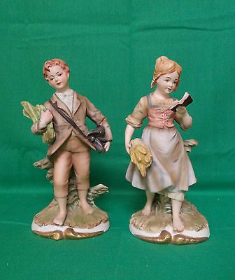 Vintage Pair Of Topline Imports--Boy And Girl Figurines 63/248