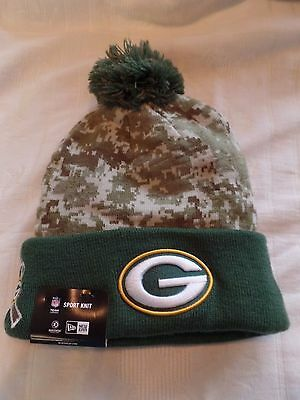 9d60387f COLLECTIBLE GREEN BAY Packers CAMO Salute To Service 2015 Sideline Knit Hat