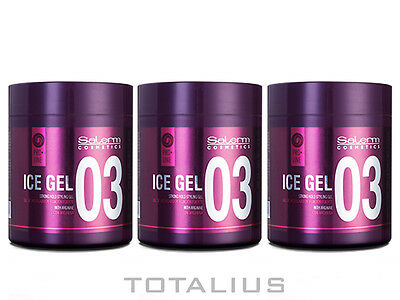 SALERM ICE GEL 500 ml CERA CAPILAR - 3 UNIDADES