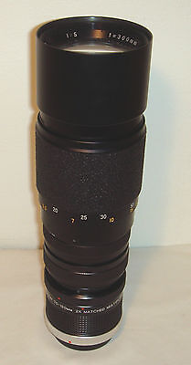 HANIMAR 1:5 300mm M42 lens with adapter for canon FD