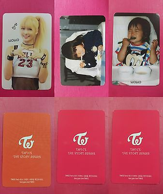 LOT OF 3 TWICE MOMO Official Photocard Full Set 1st Album The Story Begins 모모