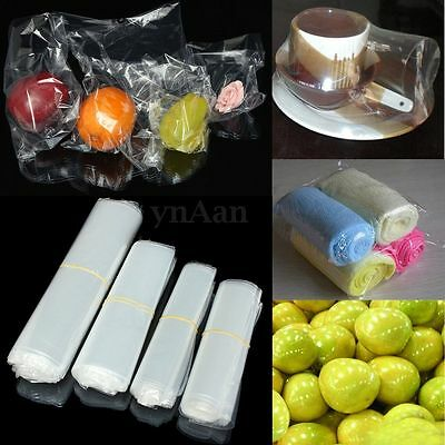 100x Multi-sizes Transparent Clear Shrink Wrap Films Heat Seal Package Bags Case