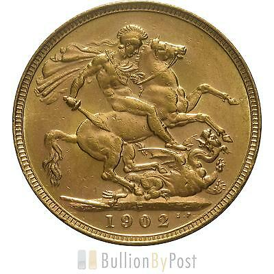 1902 Gold Sovereign - King Edward VII - P