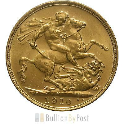 1910 Gold Sovereign - King Edward VII - M