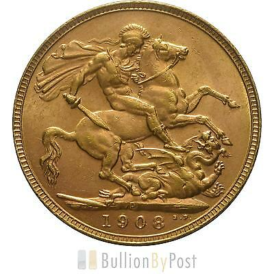 1908 Gold Sovereign - King Edward VII - P