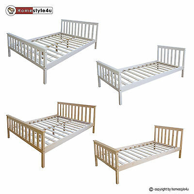 holzbett doppelbett jugendbett junioerbett natur wei 140x200 90x200 70x140 bett eur 55 96. Black Bedroom Furniture Sets. Home Design Ideas
