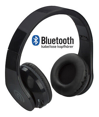 NINETEC Stereo9 wireless BLUETOOTH KOPFHÖRER headset Headphone kabellos schwarz