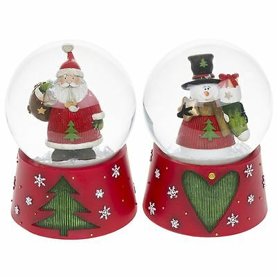 Shudehill Giftware Christmas Musical Snow Globe Santa/Snowman Sold Individually