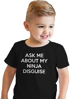 Toddler Ask Me About My Ninja Disguise Cool Face Flip Up T shirt