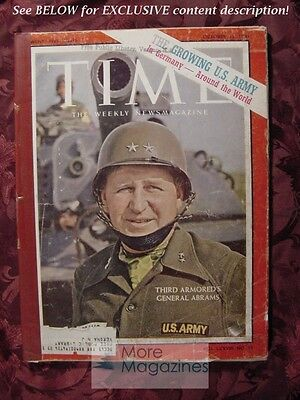 TIME magazine October 13 1961 Oct 61 10/13/61 ABE ABRAMS U. S. ARMY