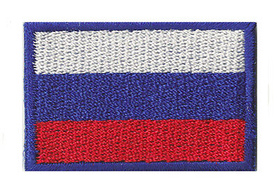 embroidered badge little / small Thermo escutcheon flag patch Russia 4,5 x 3 cm