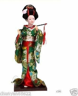 Beautiful Oriental Broider Doll,Japanese Old style figurine doll