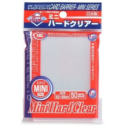 Kmc 50 Small Size Yugioh Card Barrier Sleeves Deck Protectors - Mini Hard Clear