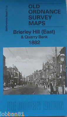 Old Ordnance Survey Maps Brierley Hill E Quarry Bank Staffordshire 1882 Godfrey