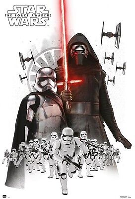 24x36 Star Wars The Force Awakens Empire White Licensed Poster shrink wrapped