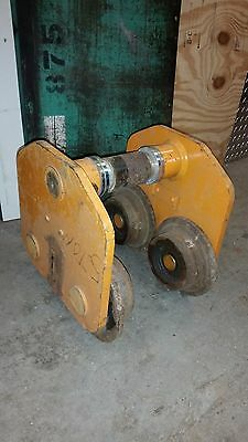 Harrington Beam Push Trolley 5 Ton For Chain Hoist Winch Crane 7-1/2""