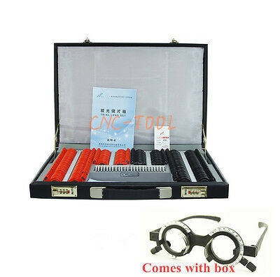 SL-232 232pcs Classic Ophthalmic Trial Lens Set Plastic Rim With TRIAL Frame