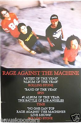 "Rage Against The Machine ""Battle Of La-Artist & Album Of Year"" U.s. Promo Poster"