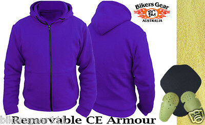 NEW WOMENS MOTORCYCLE WITH DuPont™ KEVLAR® ARAMID FIBRE HOODIE PURPLE 8