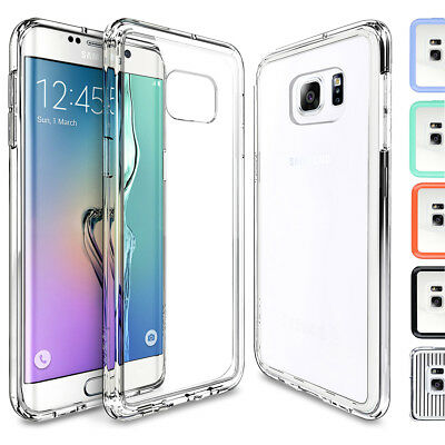 For Samsung Galaxy S6 Edge Plus Crystal Clear Back shockproof Bumper Hard Case