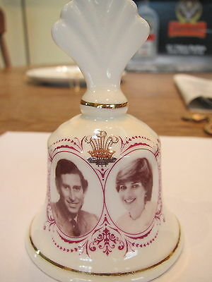 1981 commerative bone china bell of Prince Charles & Lady Diana wedding-England