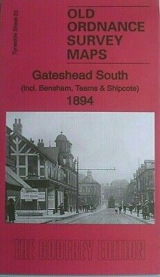 Old Ordnance Survey Map Gateshead South Bensham Teams & Shipcote 1894  Sheet 23