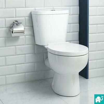 Toilet WC Bathroom Close Coupled Square Ceramic Soft Closing Seat Dual Flush