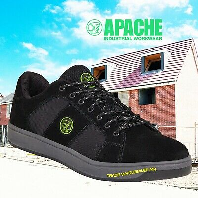 Apache Kick Safety Trainer Shoe Lightweight- Steel Toe Cap Work Mens Trainers