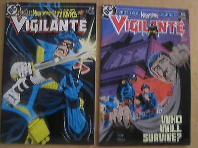 VIGILANTE 20 & 21 : COMPLETE 2 ISSUE NIGHTWING STORY by WOLFMAN, SMITH e.DC.1985