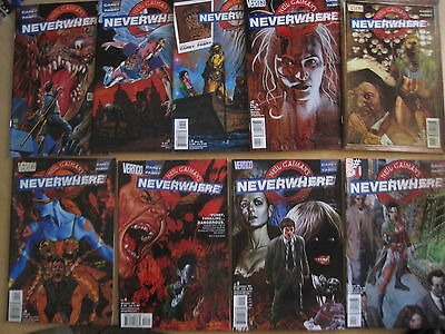 NEIL GAIMAN's NEVERWHERE :COMPLETE 9 ISSUE SERIES by CAREY,FABRY.DC VERTIGO.2005
