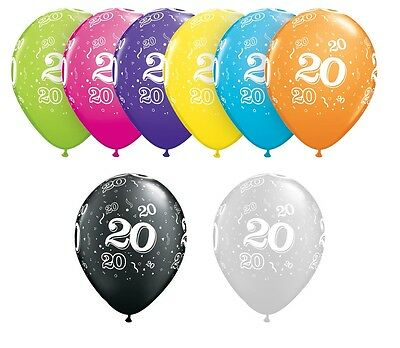 20th Birthday Party Balloons 11 Pack Of 6 Helium Quality