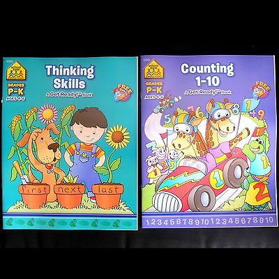School Zone learning activity books set Prep to kindy for 4 - 6 years teach play
