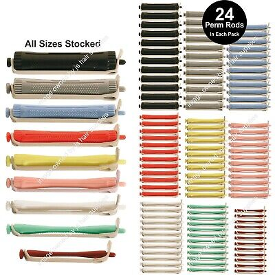 24 x Perm Curling Rods Curlers Rollers Perming Hair ALL SIZES Stocked