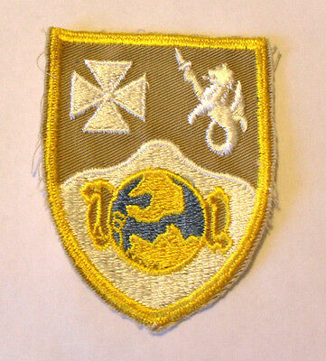 40/50's Rare Variant 23Rd Inf Rgt Pocket Patch Variant Tan Twill & Gold Border