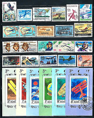 AIRCRAFT and AVIATION Stamps Assorted Topical Lot of 29