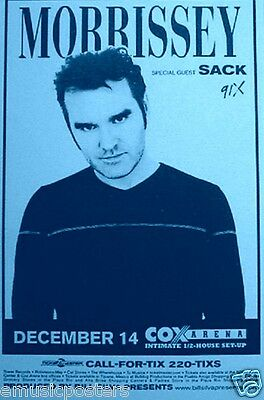 """MORRISSEY 1997 """"MALADJUSTED TOUR"""" SAN DIEGO CONCERT POSTER - The Smiths"""
