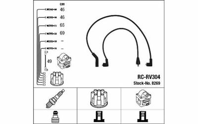 NGK Ignition Cable Kit ROVER 100 HONDA ACCORD PRELUDE 8269