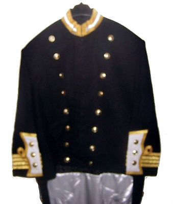Custom Bespoke HMS Navy Officer Captain Levee Dress Uniform Coatee Jacket Tunic