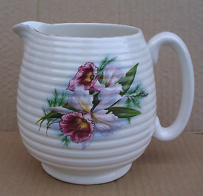 BESWICK ORCHID PATTERNED CREAM JUG - 2632 or 263.2