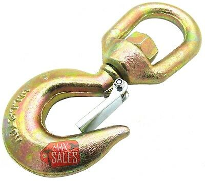 New Drop Forged Carbon Steel Swivel Eye Hook with Latch 2 Ton G70