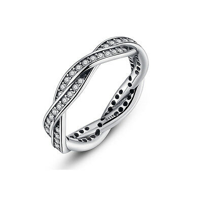 Black Friday 925 Silver Plated Ring With Clear AAA Zircon For Women Jewelry Xmas